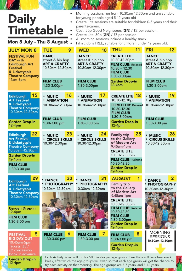Daily Timetable-Summer2019