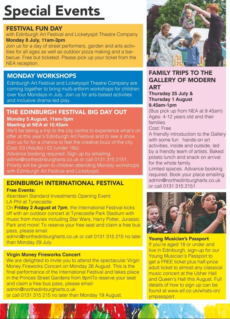Summer programme - inside