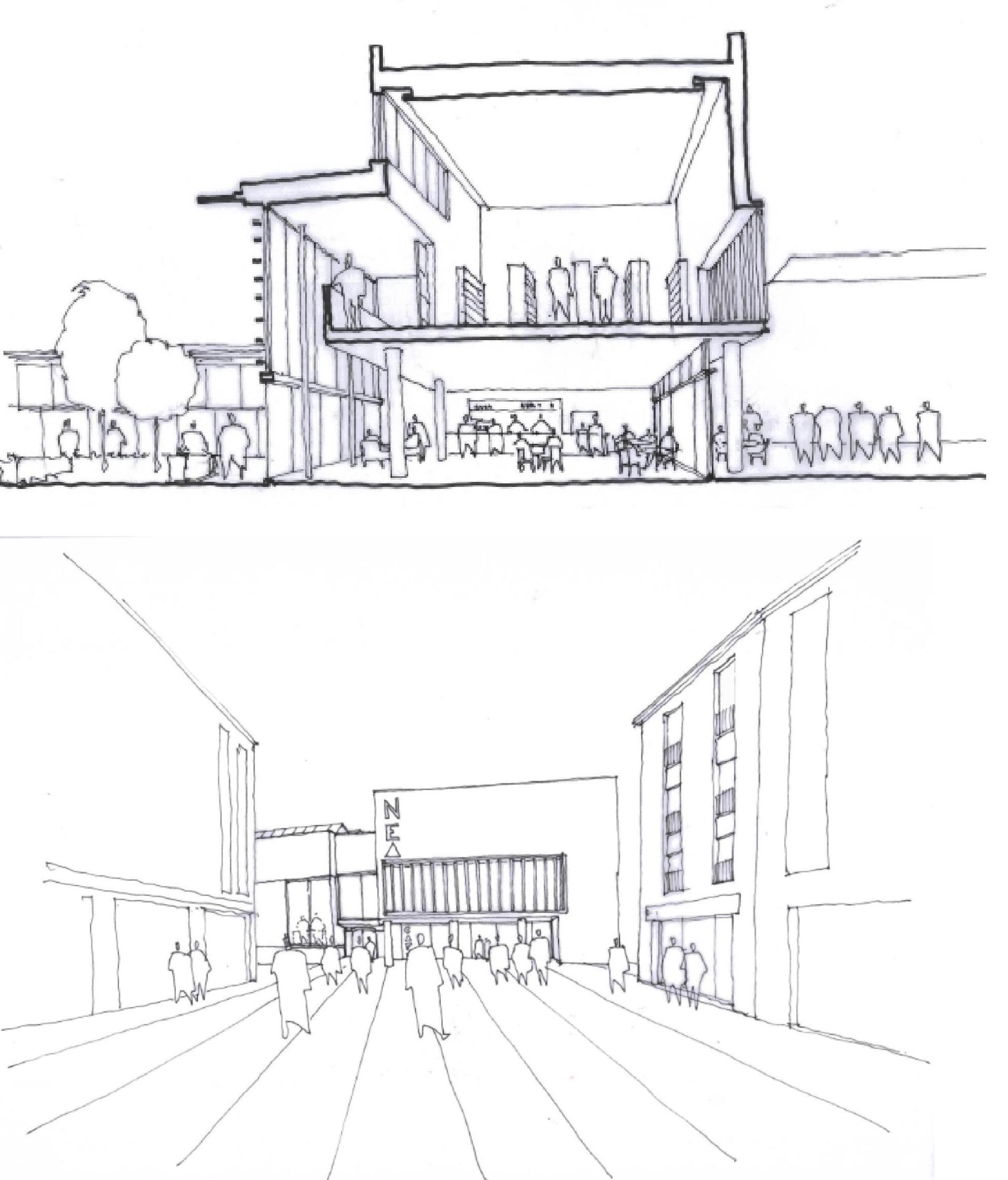 Architect Sketch -Richard Murphy Architects